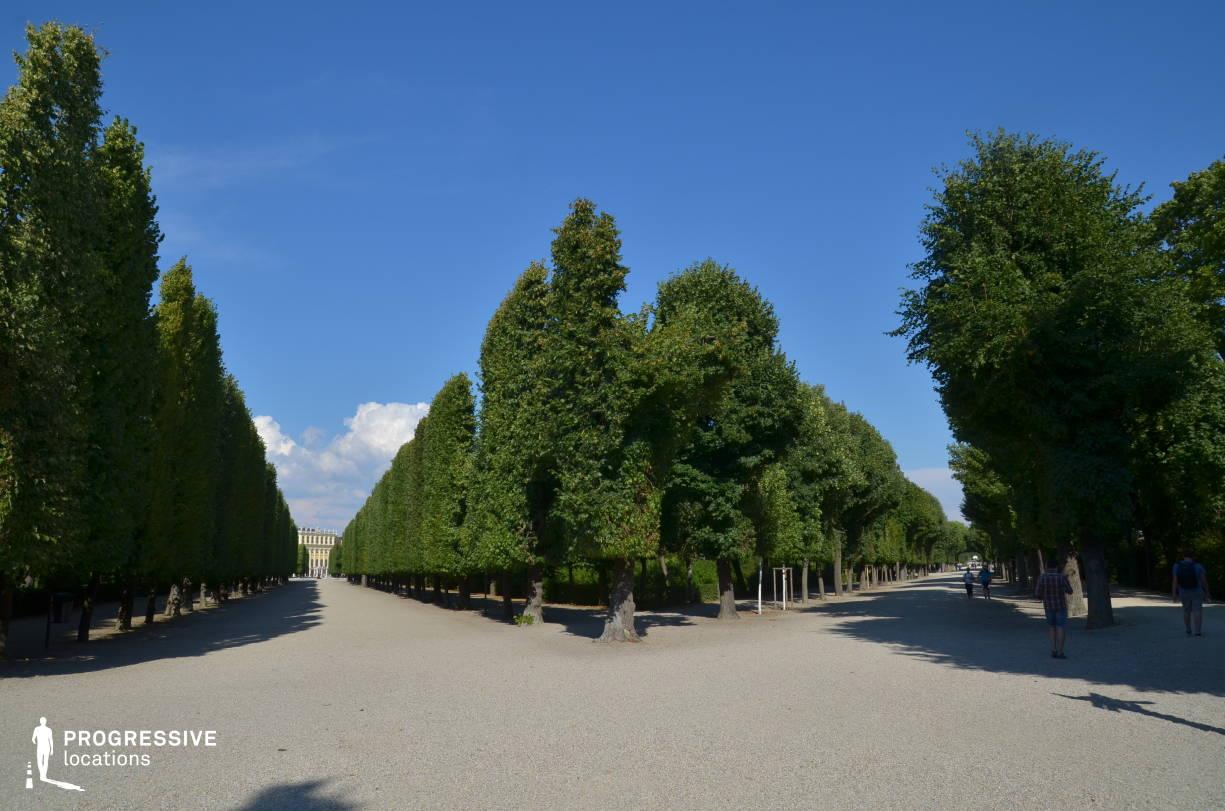 Locations in Austria: Park Promenade, Schoenbrunn Palace