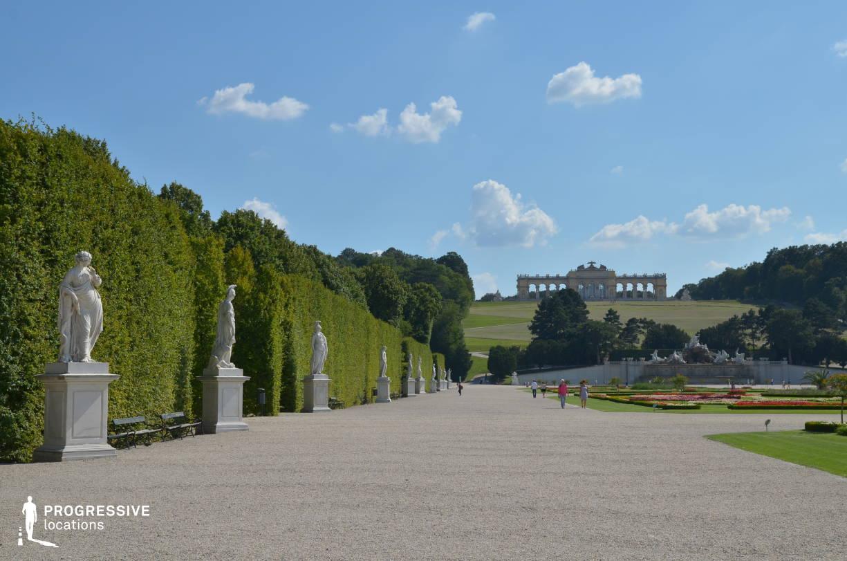 Locations in Austria: Park %26 Gloriette View, Schoenbrunn Palace