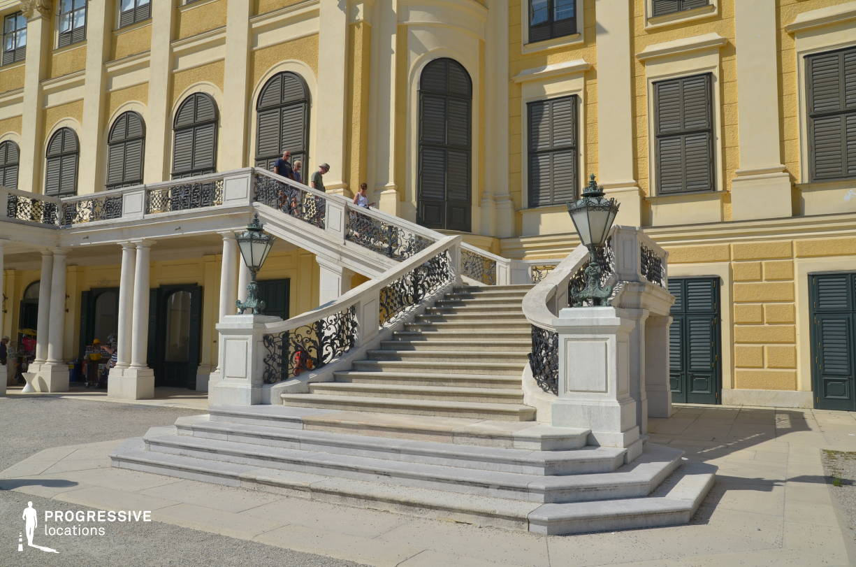 Locations in Austria: Exterior %26 Stairs, Schoenbrunn Palace