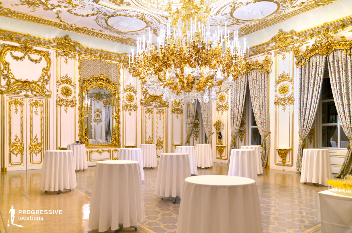 Locations in Austria: Ballroom, Liechtenstein Palace