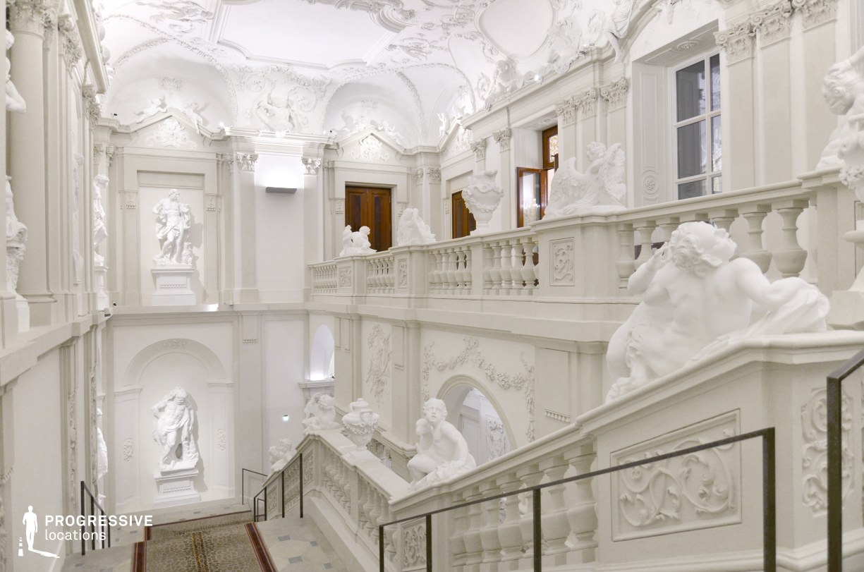 Locations in Austria: Staircase, Liechtenstein Palace
