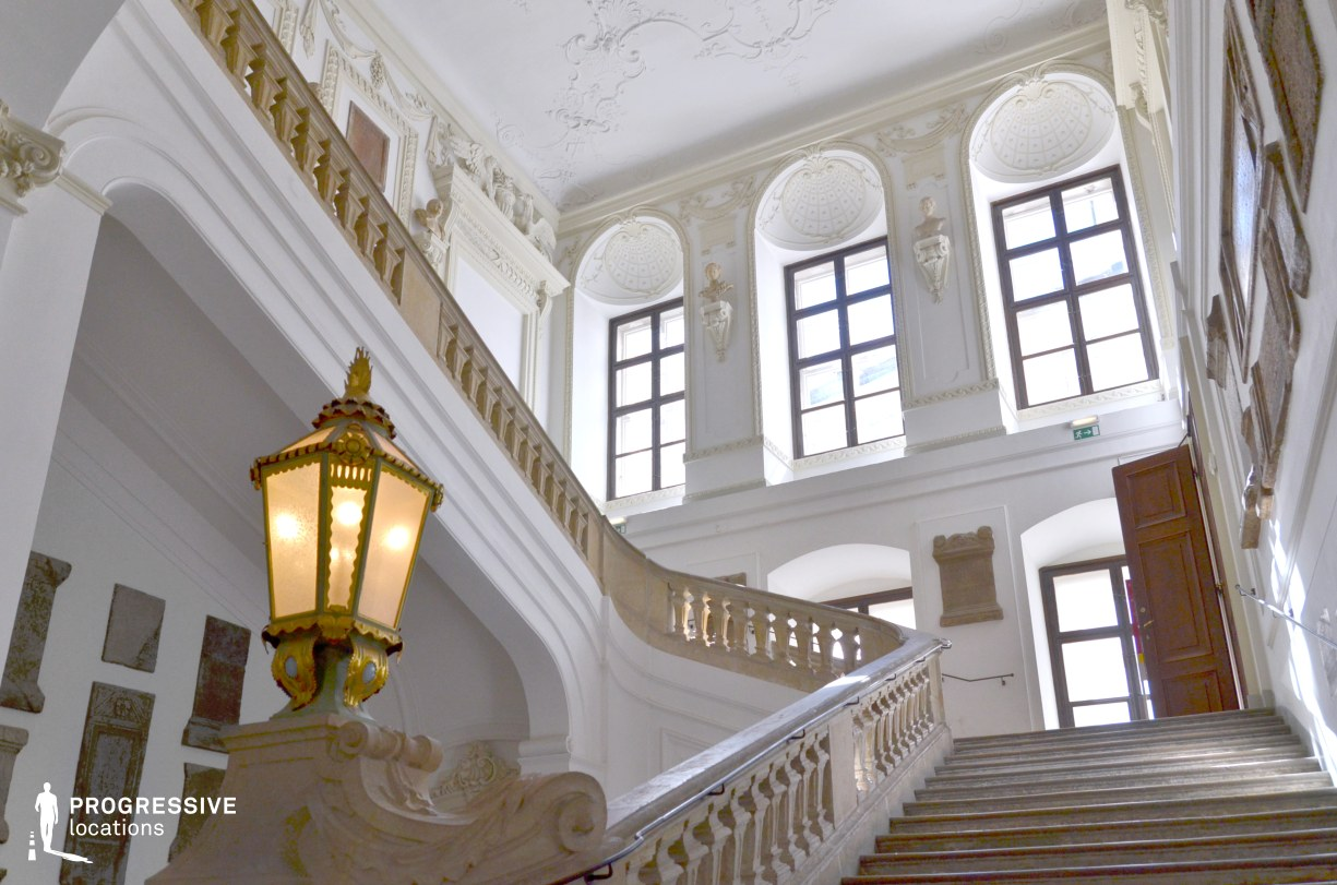 Locations in Austria: Staircase, Hofbourg Palace