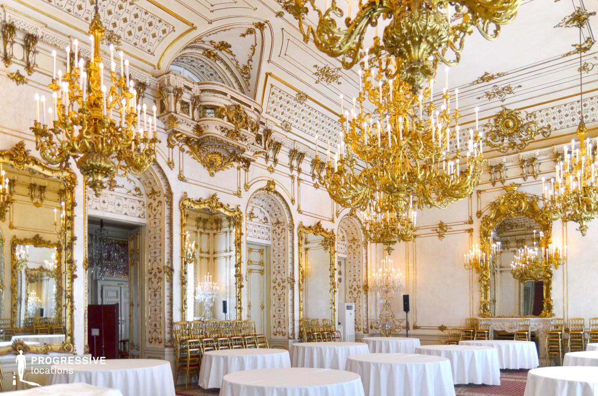 Locations in Austria: Great Ballroom, Pallavicini Palace