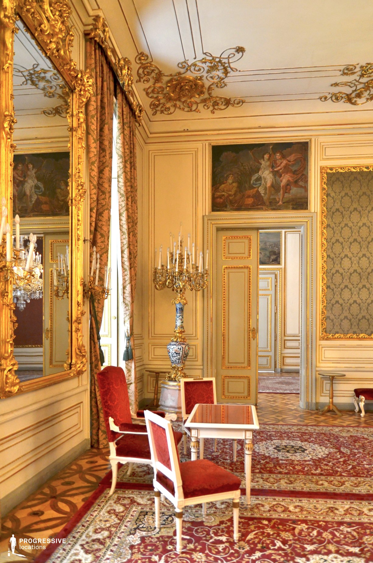 Locations in Austria: Green Salon %26 Mirror, Pallavicini Palace