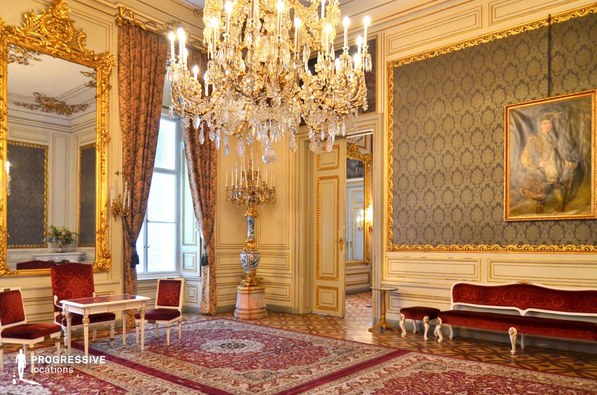 Locations in Austria: Green Salon, Pallavicini Palace