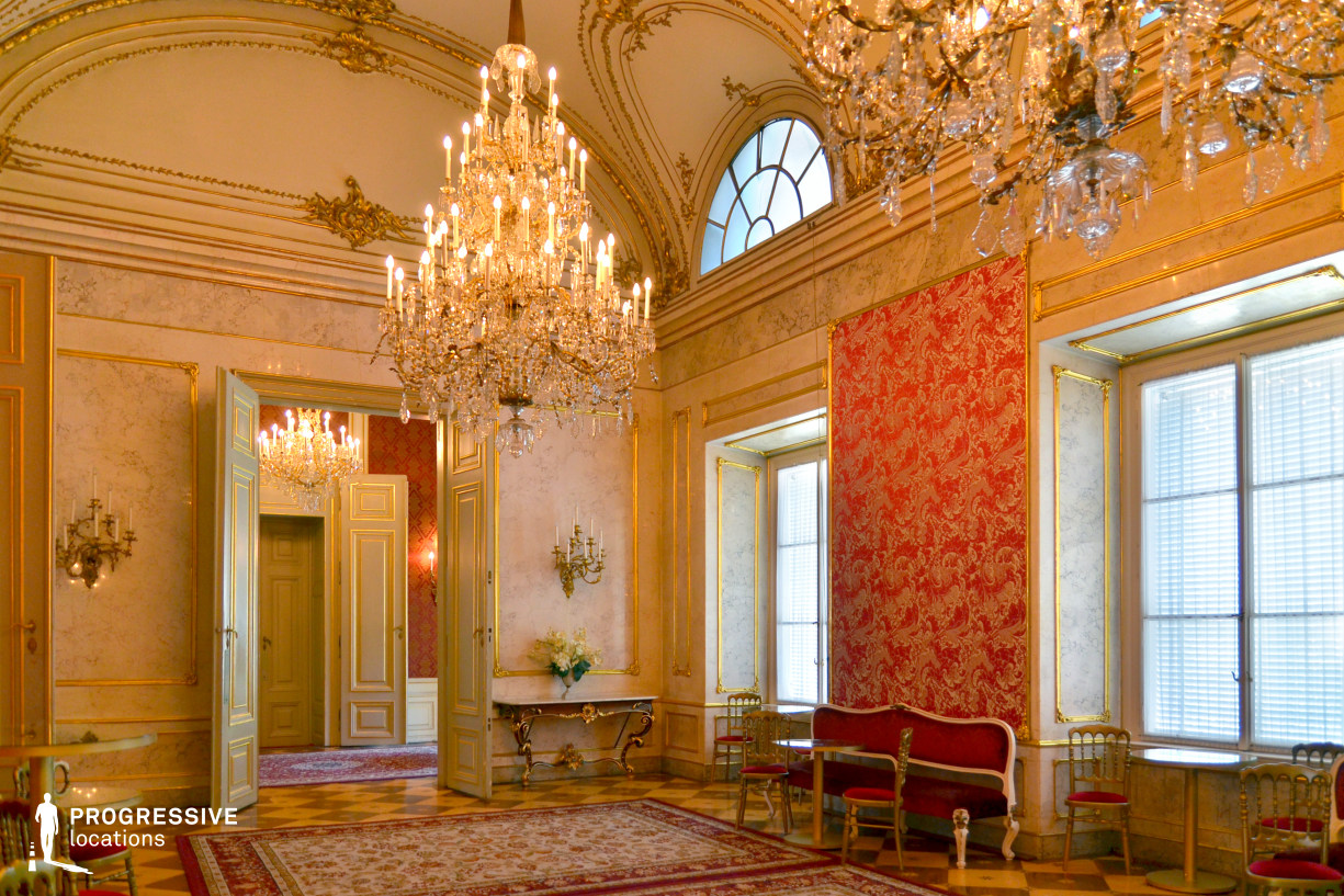 Locations in Austria: Marble Hall, Pallavicini Palace