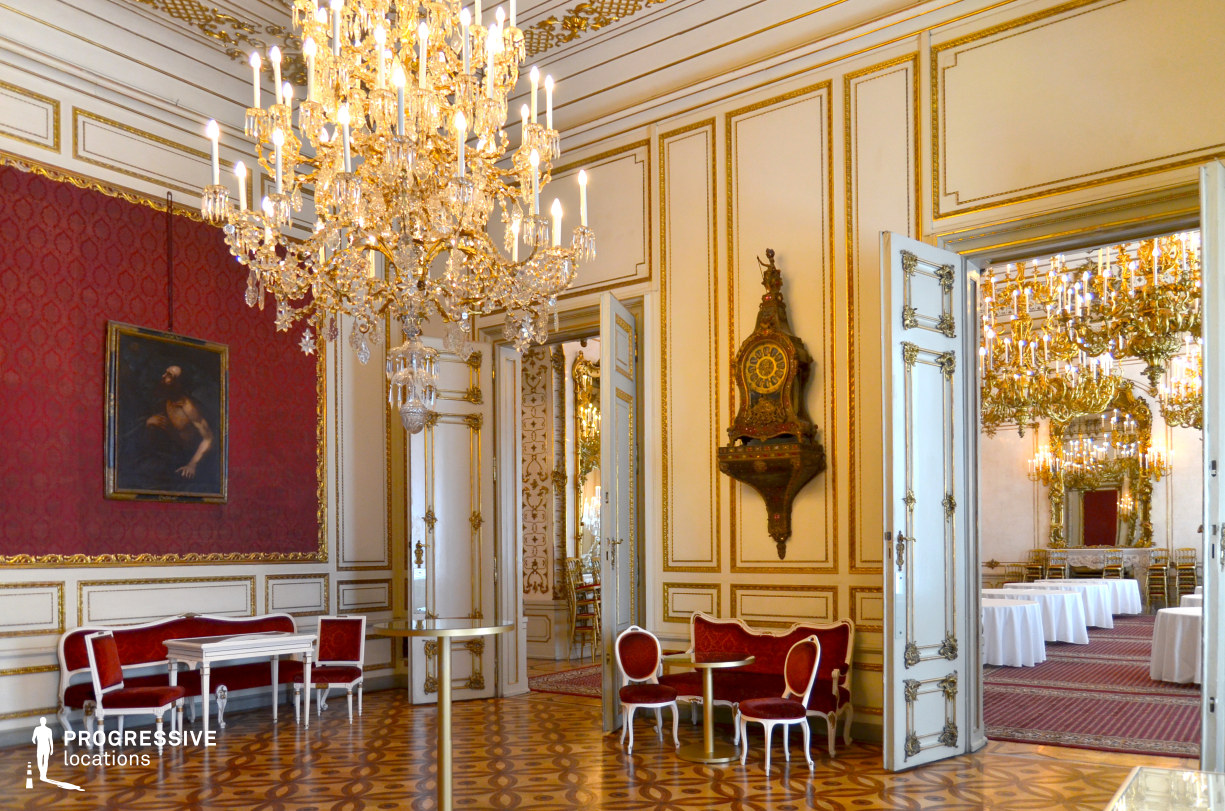 Locations in Austria: Red Salon, Pallavicini Palace