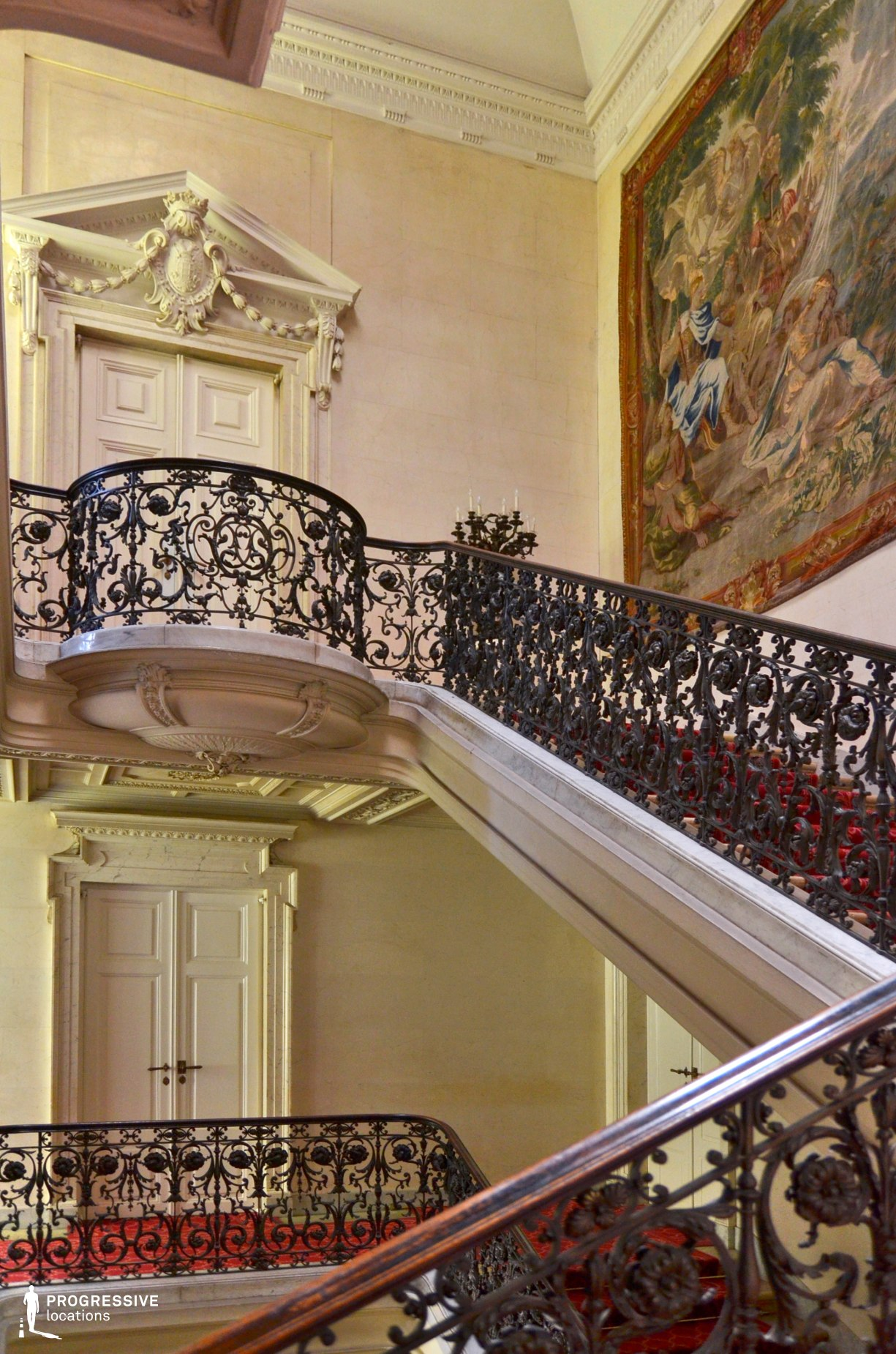 Locations in Austria: Staircase, Pallavicini Palace