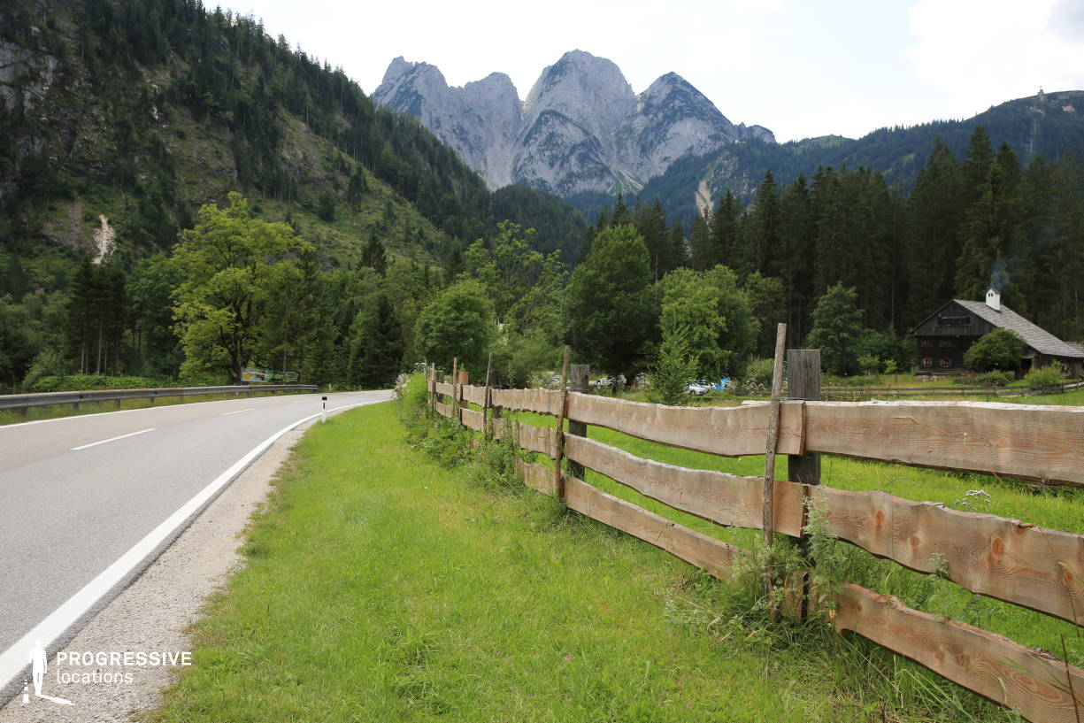 Locations in Austria: Road %26 Wooden Fence, Gosau