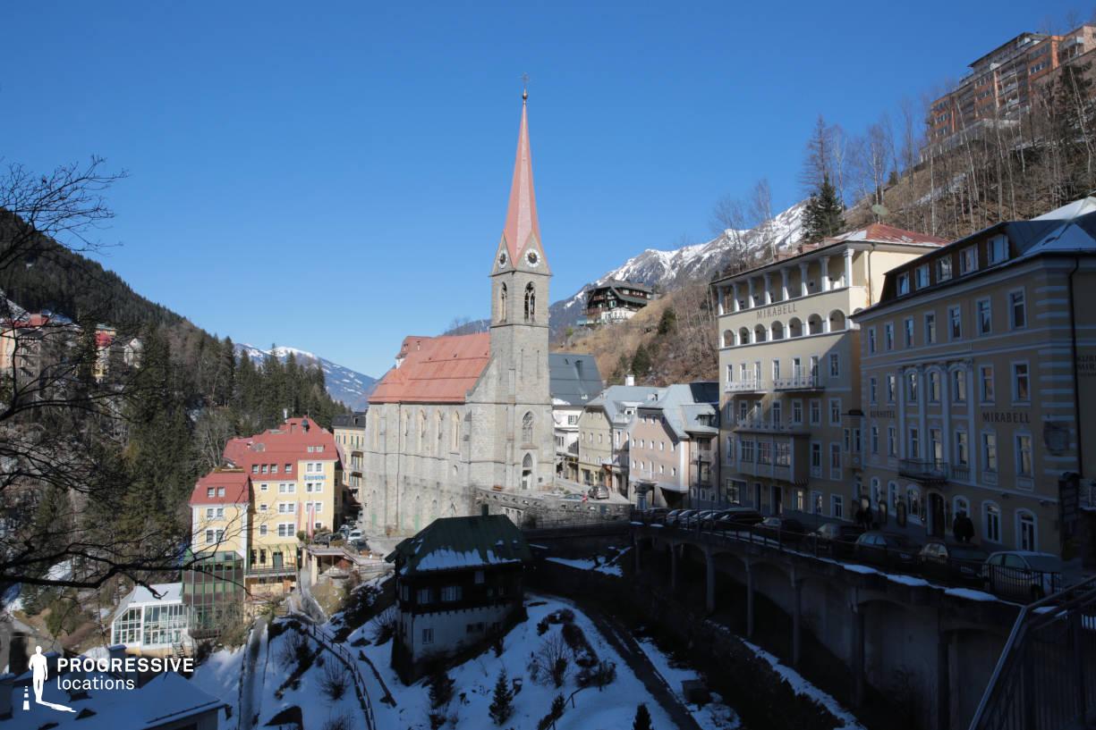 Locations in Austria: Curch, Bad Gastein