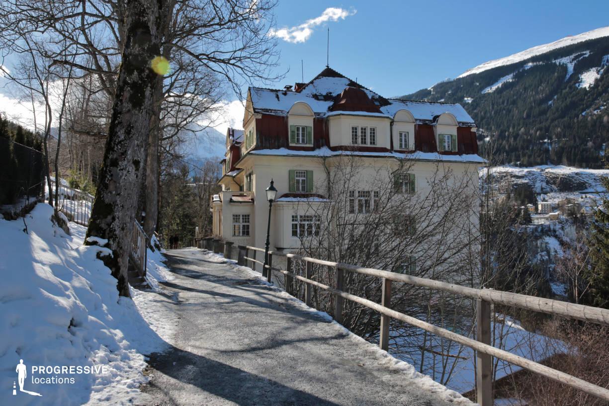 Locations in Austria: Walkway, Bad Gastein (Hillside)