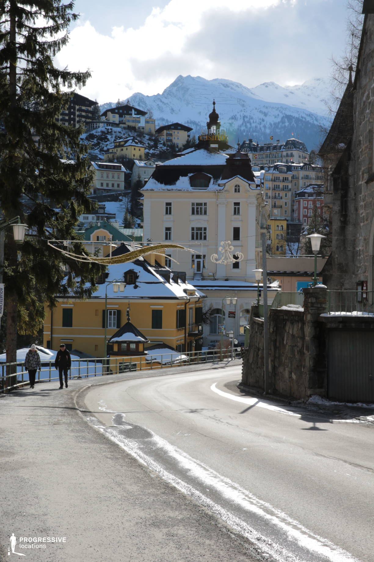 Locations in Austria: Old Town Road, Bad Gastein