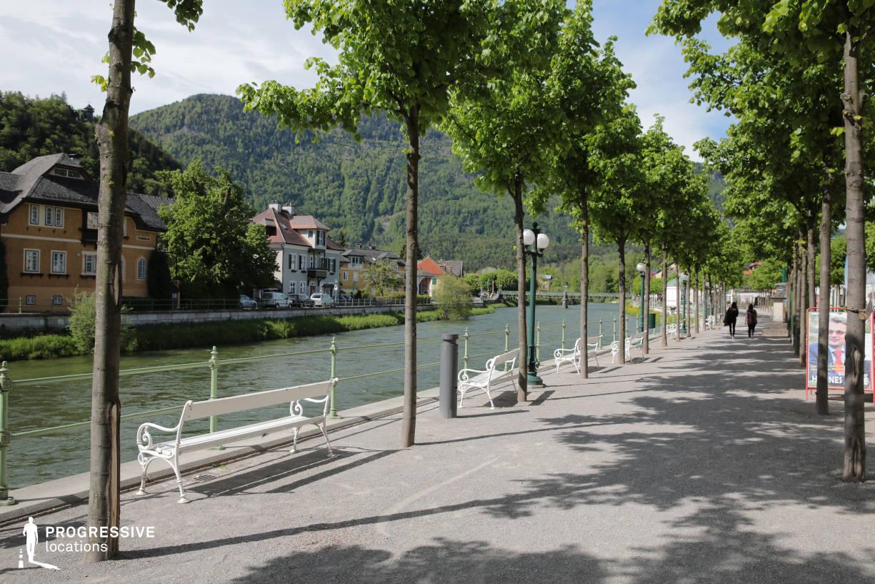 Locations in Austria: River Promenade, Bad Ischl
