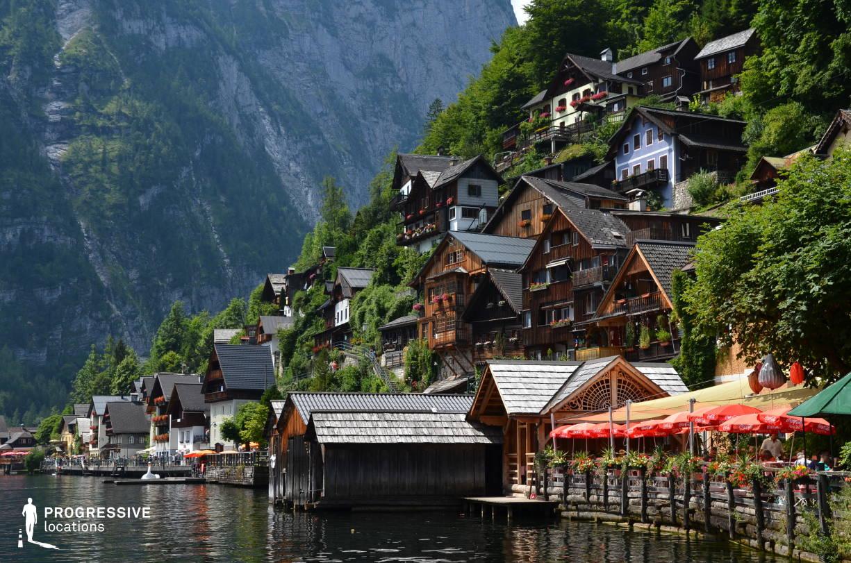 Locations in Austria: Hillside Houses, Hallstatt