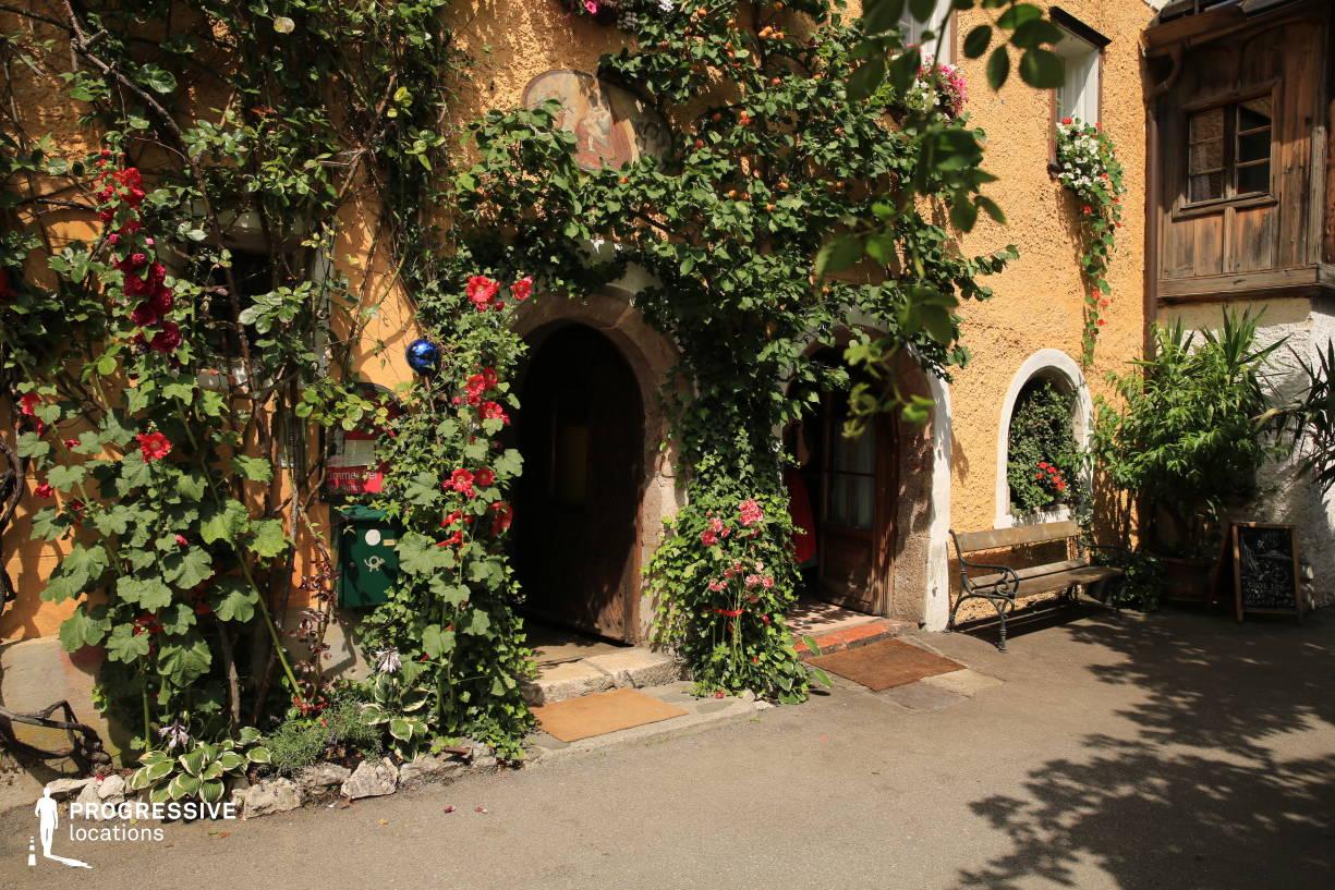 Locations in Austria: Traditional Home Entrance, Hallstatt