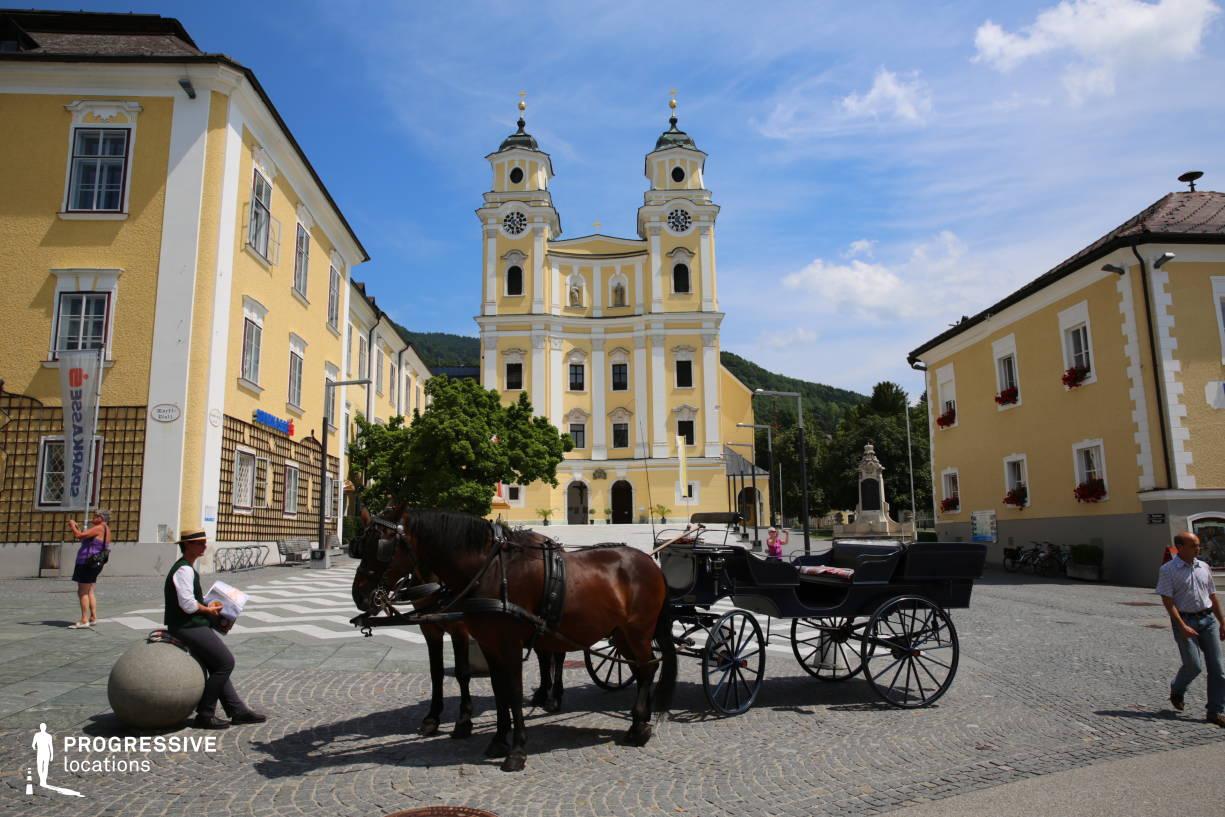 Locations in Austria: Main Square %26 Abbey, Mondsee