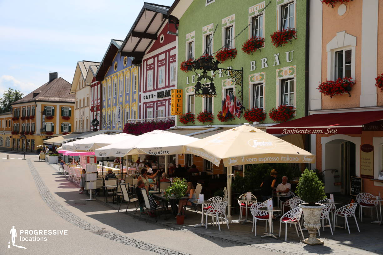 Locations in Austria: Main Square Cafes, Mondsee