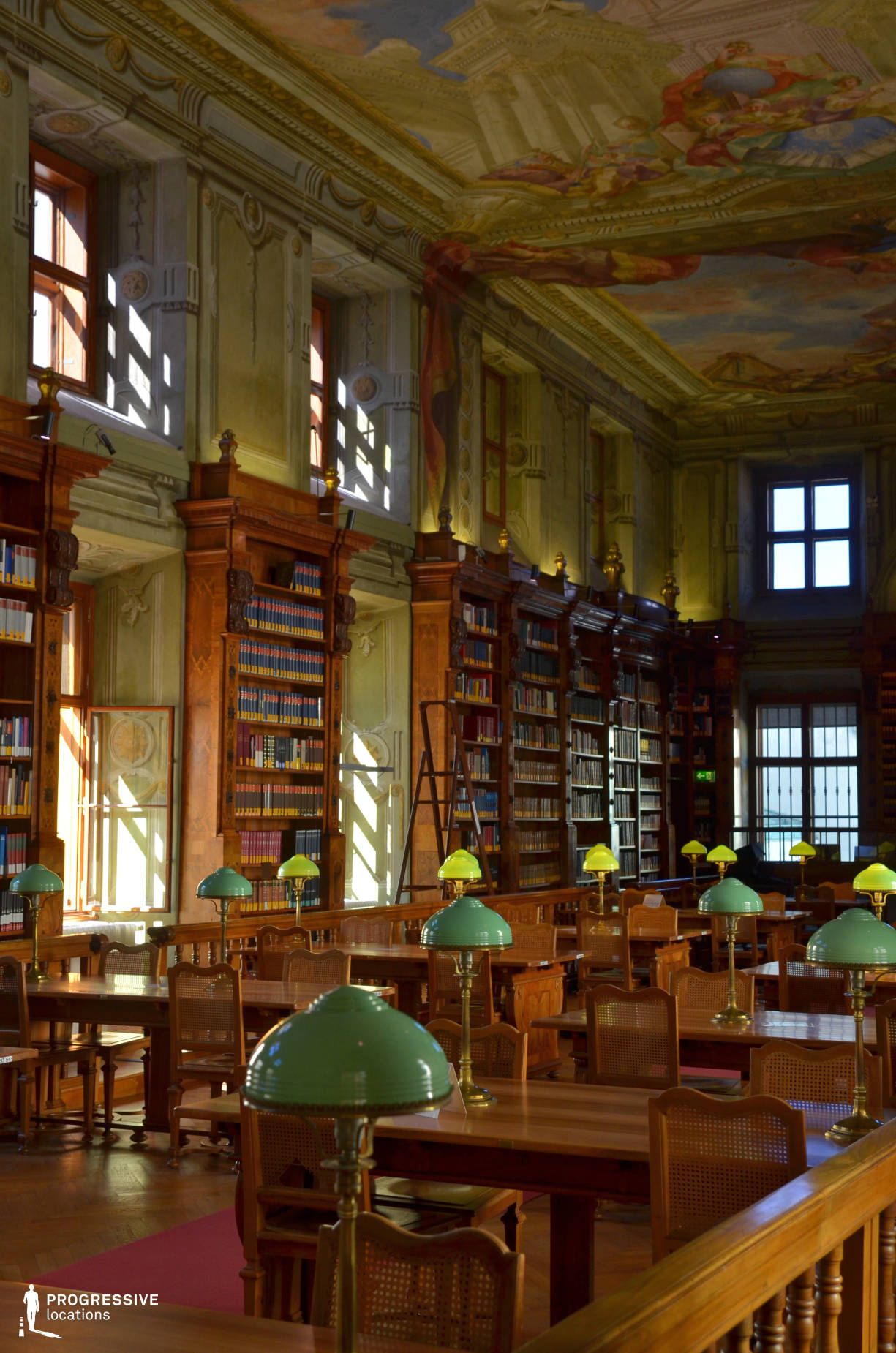 Locations in Austria: Augustinus Reading Room, National Library (Detail)