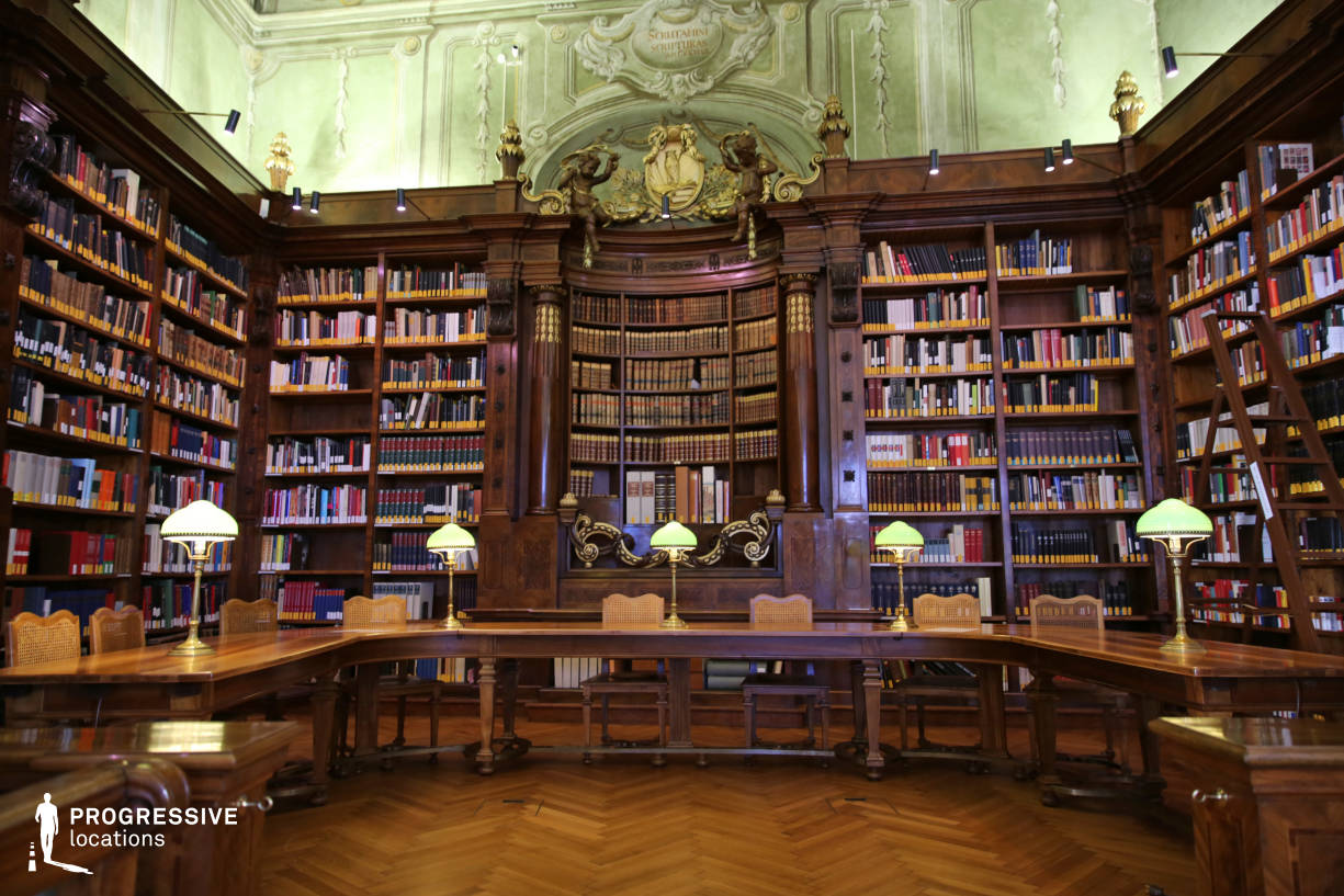 Locations in Austria: Augustinus Reading Room %26 Rear Shelves, National Library