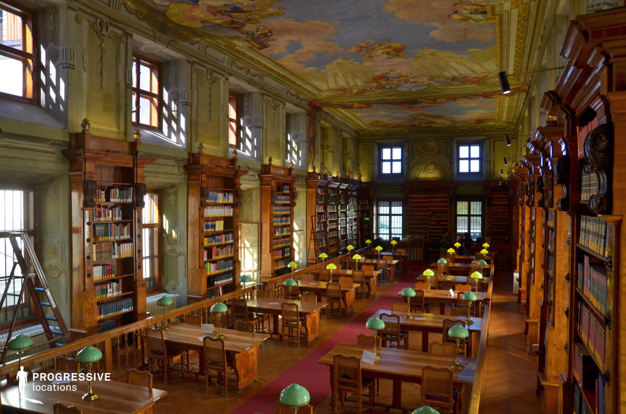 Locations in Austria: Augustinus Reading Room, National Library (View From Above)