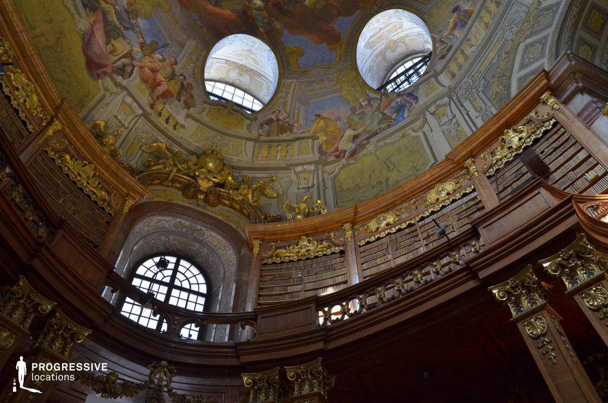 Locations in Austria: Great Reading Hall Dome %26 National Library