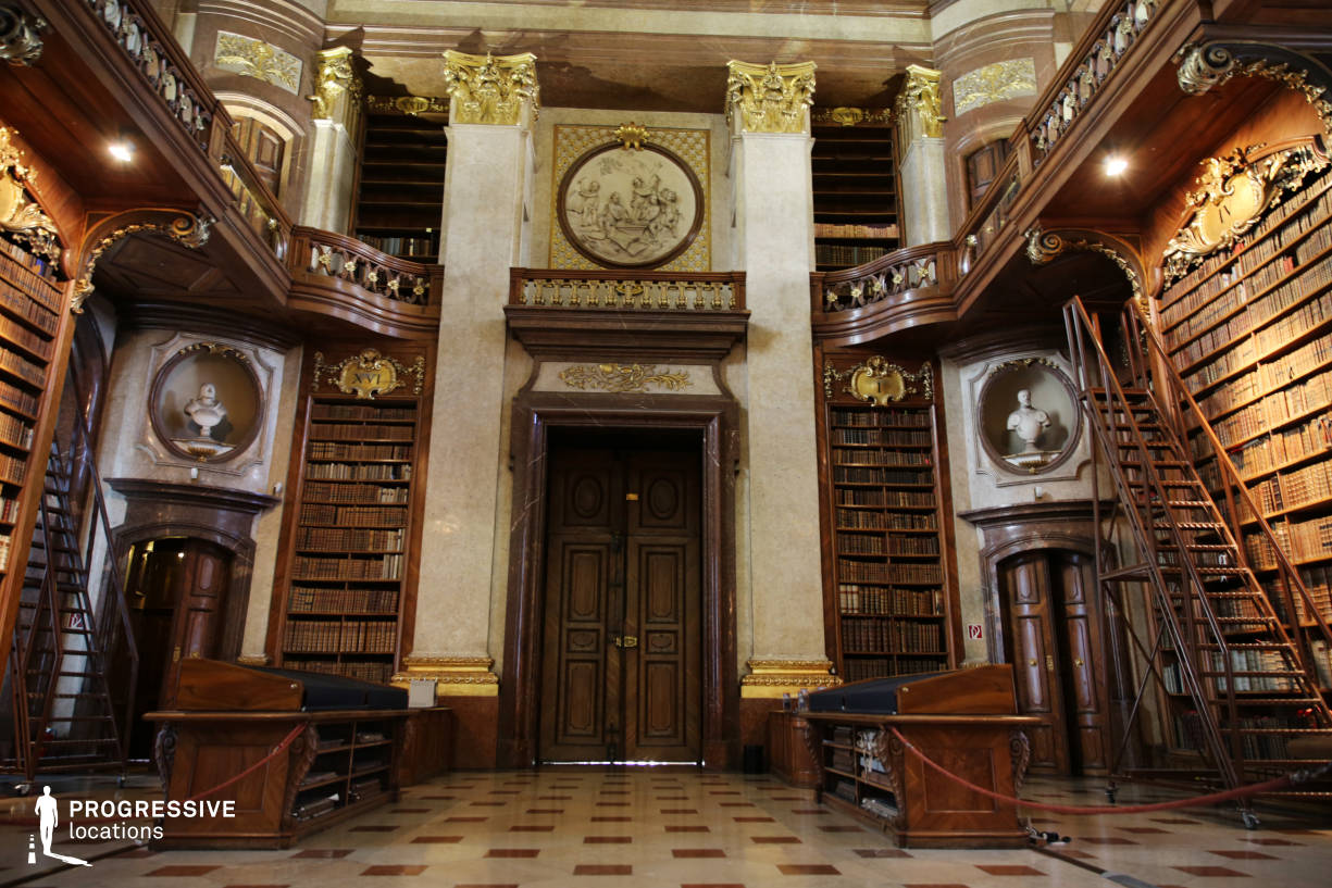 Locations in Austria: Great Reading Hall Entrance, National Library