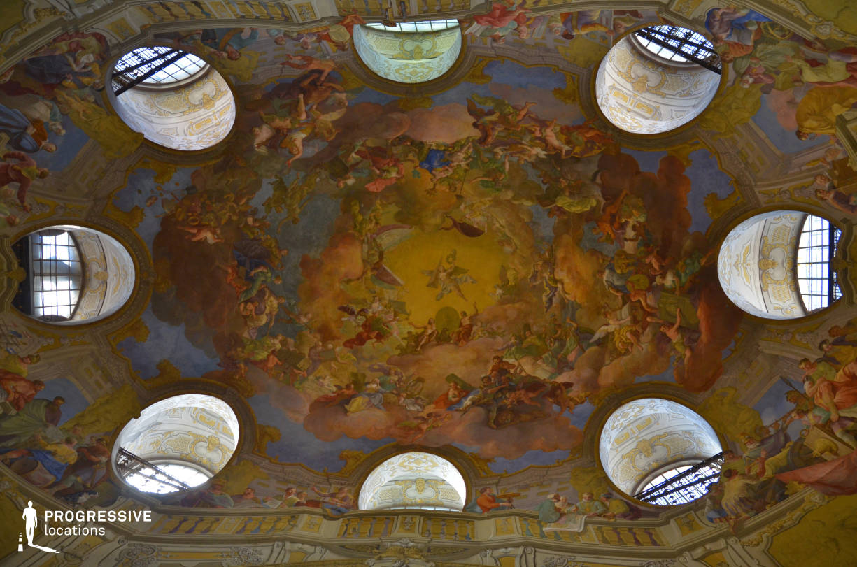 Locations in Austria: Great Reading Hall Fresco, National Library