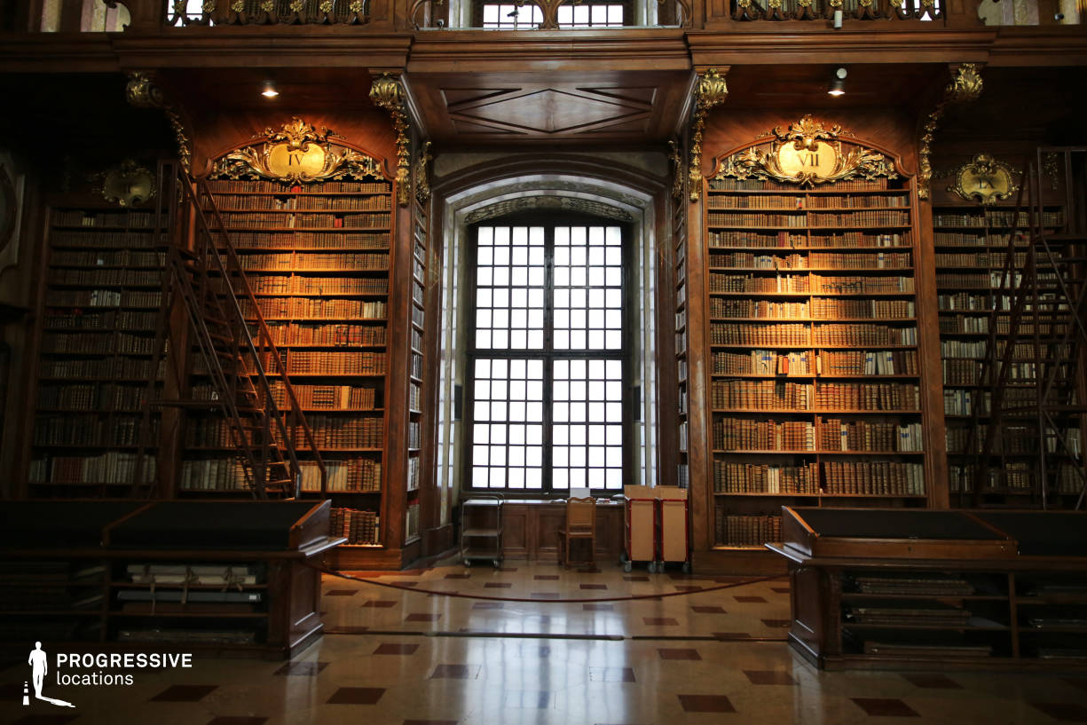 Locations in Austria: Great Reading Hall Shelves, National Library