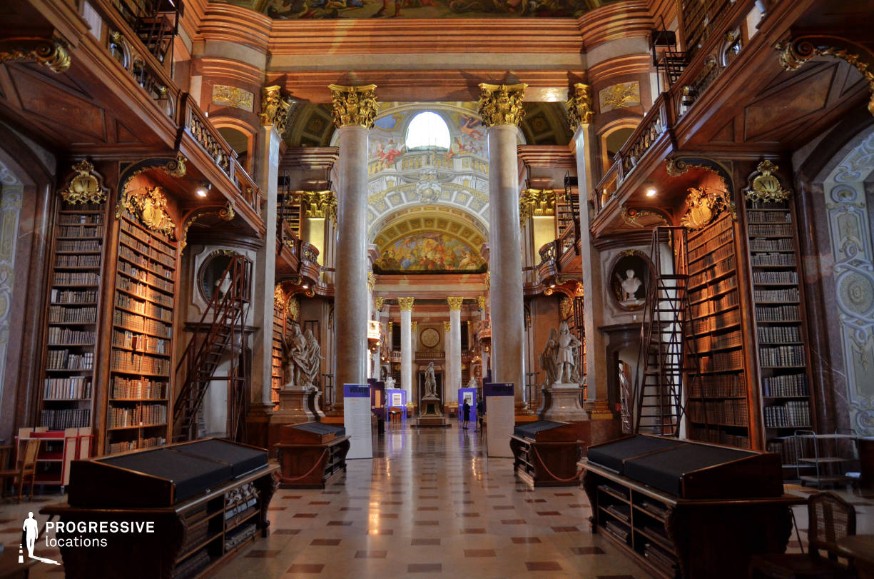 Locations in Austria: Great Reading Hall, National Library