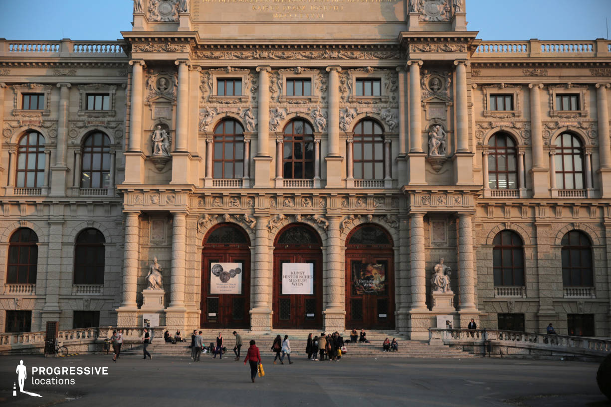 Locations in Austria: Entrance, Art History Museum