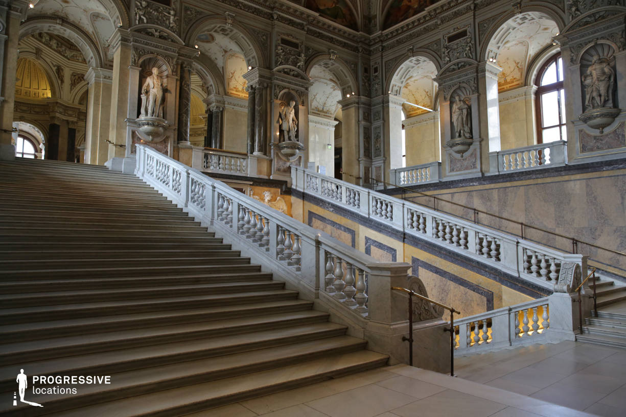 Locations in Austria: Main Staircase, Natural History Museum (Side View)