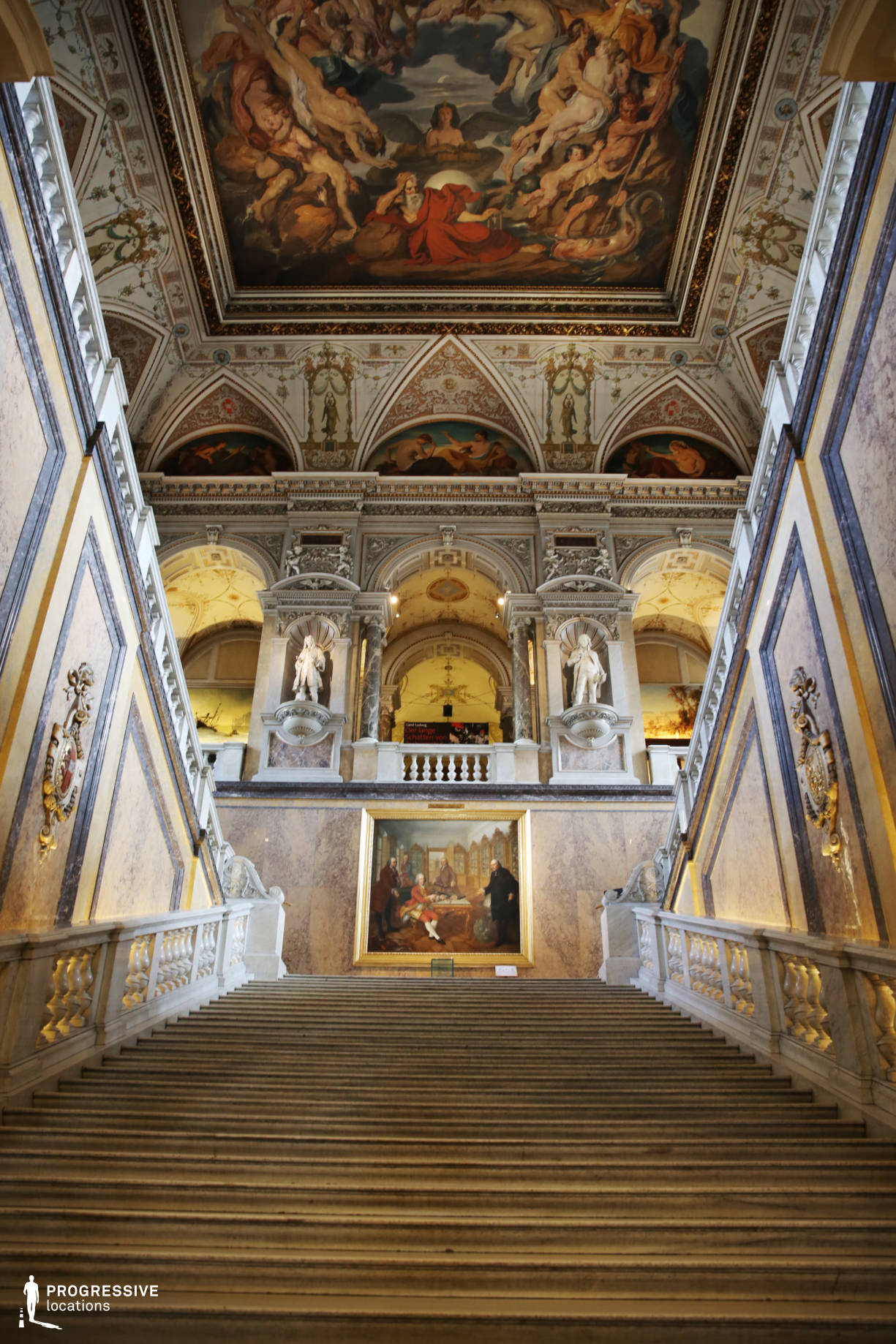 Locations in Austria: Main Staircase, Natural History Museum