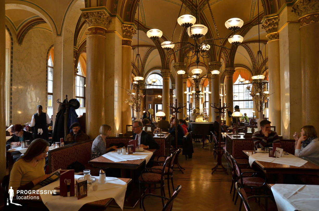 Locations in Austria: Hall, Cafe central