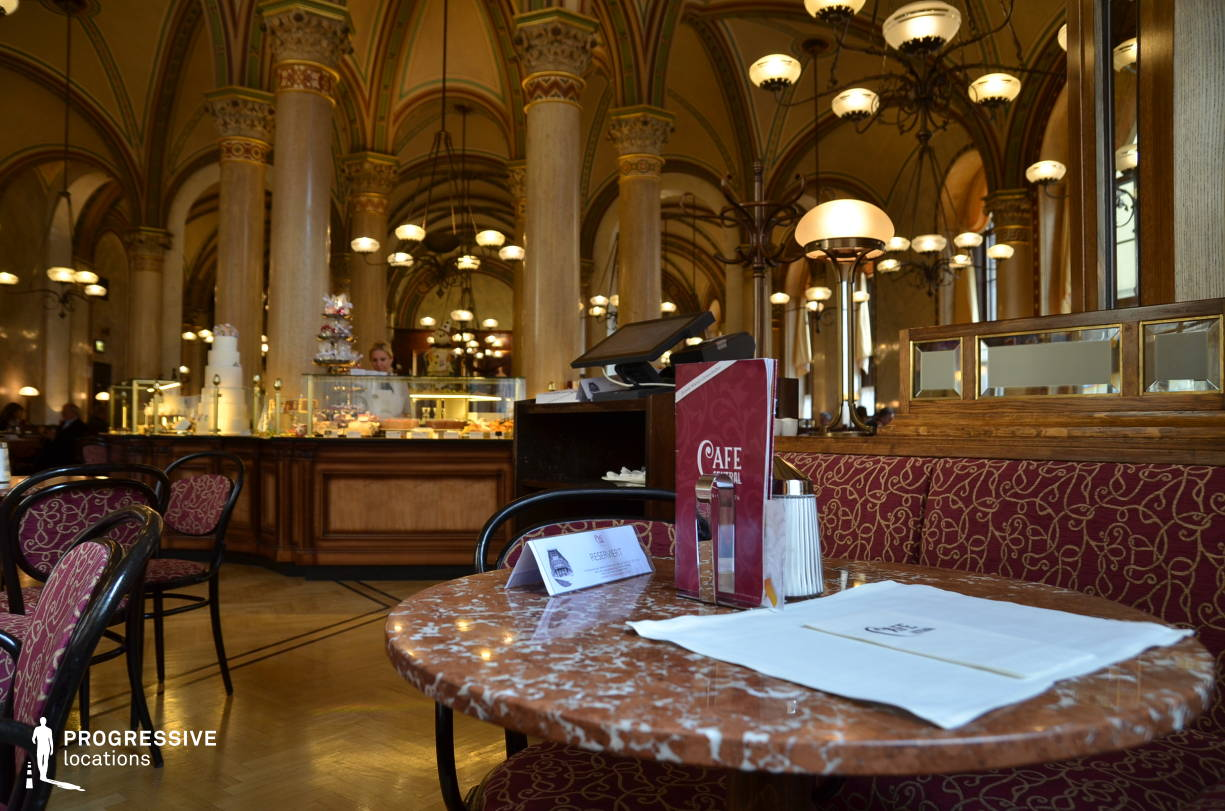 Locations in Austria: Marble Table, Cafe Central