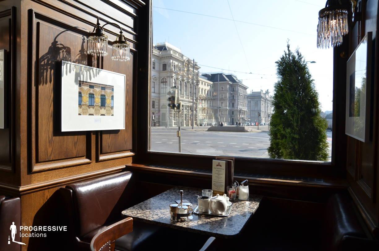 Locations in Austria: Window View, Cafe Schwarzenberg