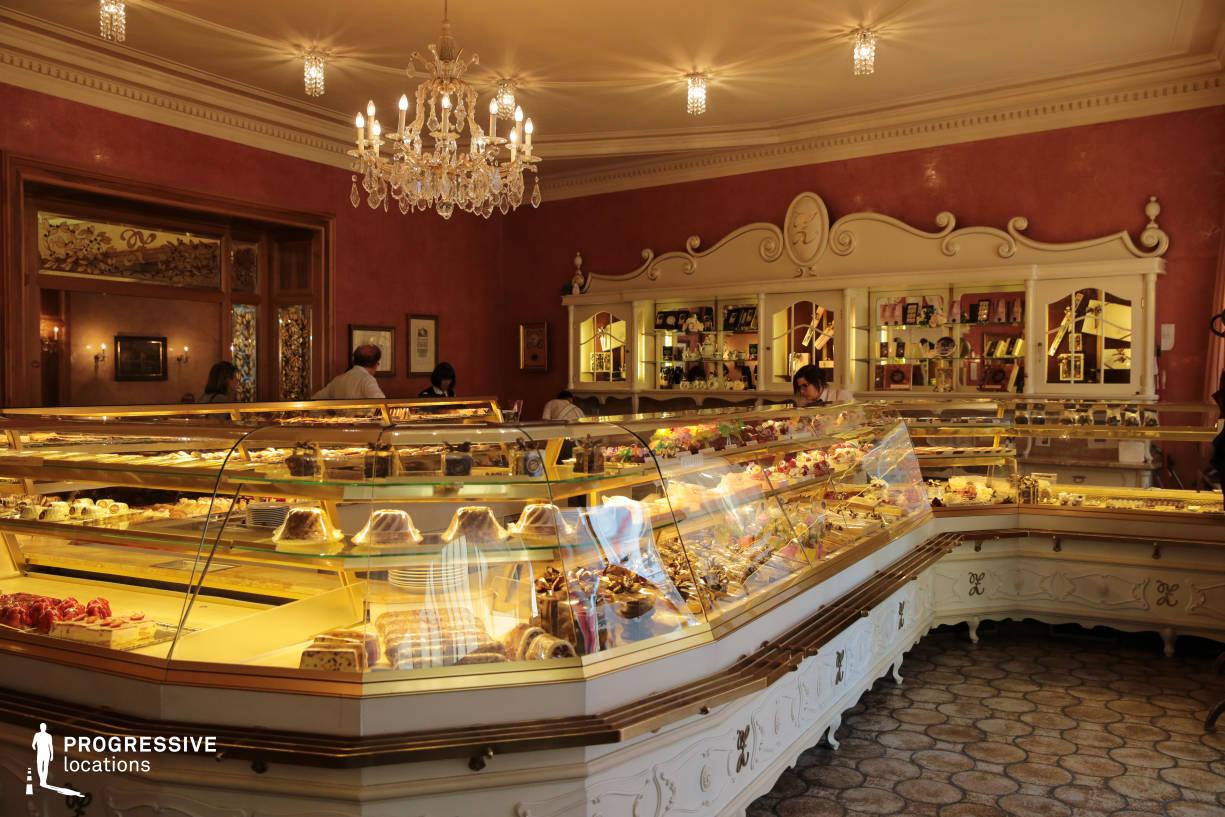 Locations in Austria: Counter, Cafe Zauner