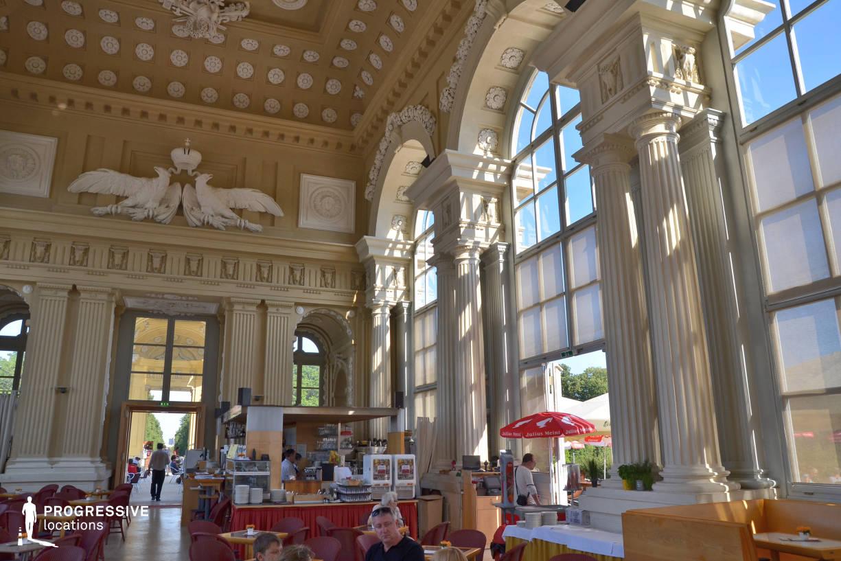 Locations in Austria: Gloriette Cafe, Schoenbrunn Palace