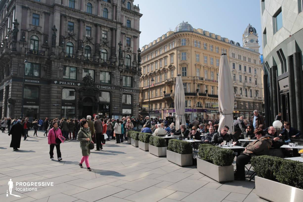 Locations in Austria: Terrace, Graben Cafe