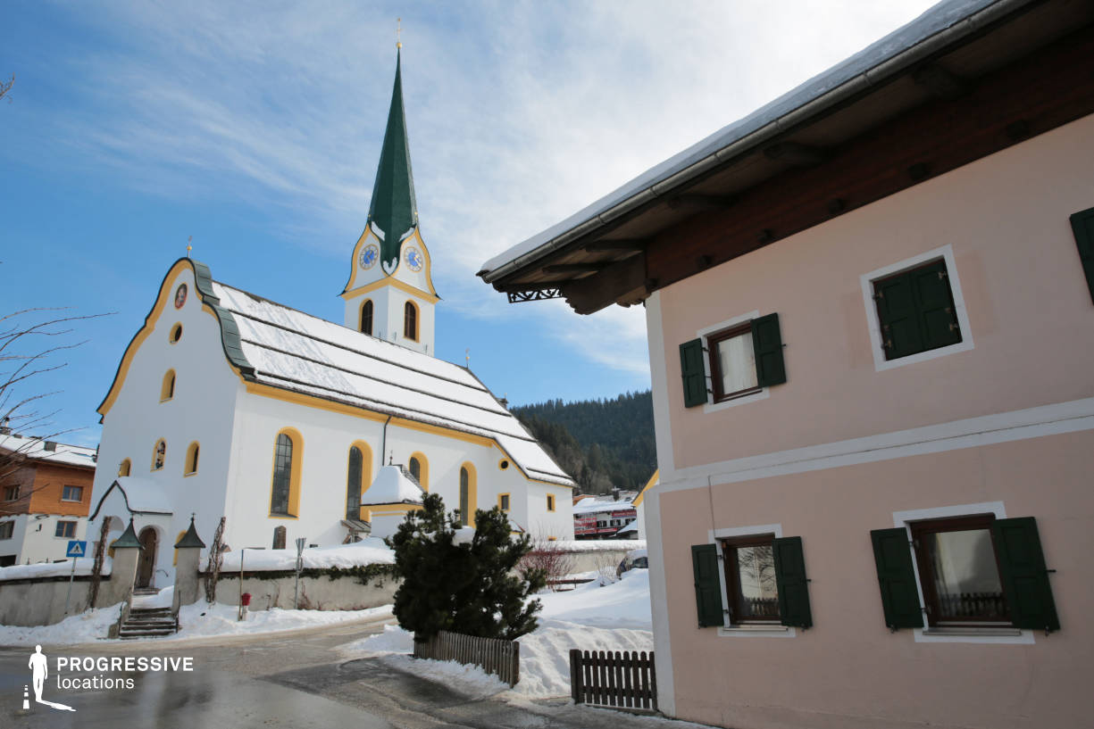 Locations in Austria: Church, Mayrhofen