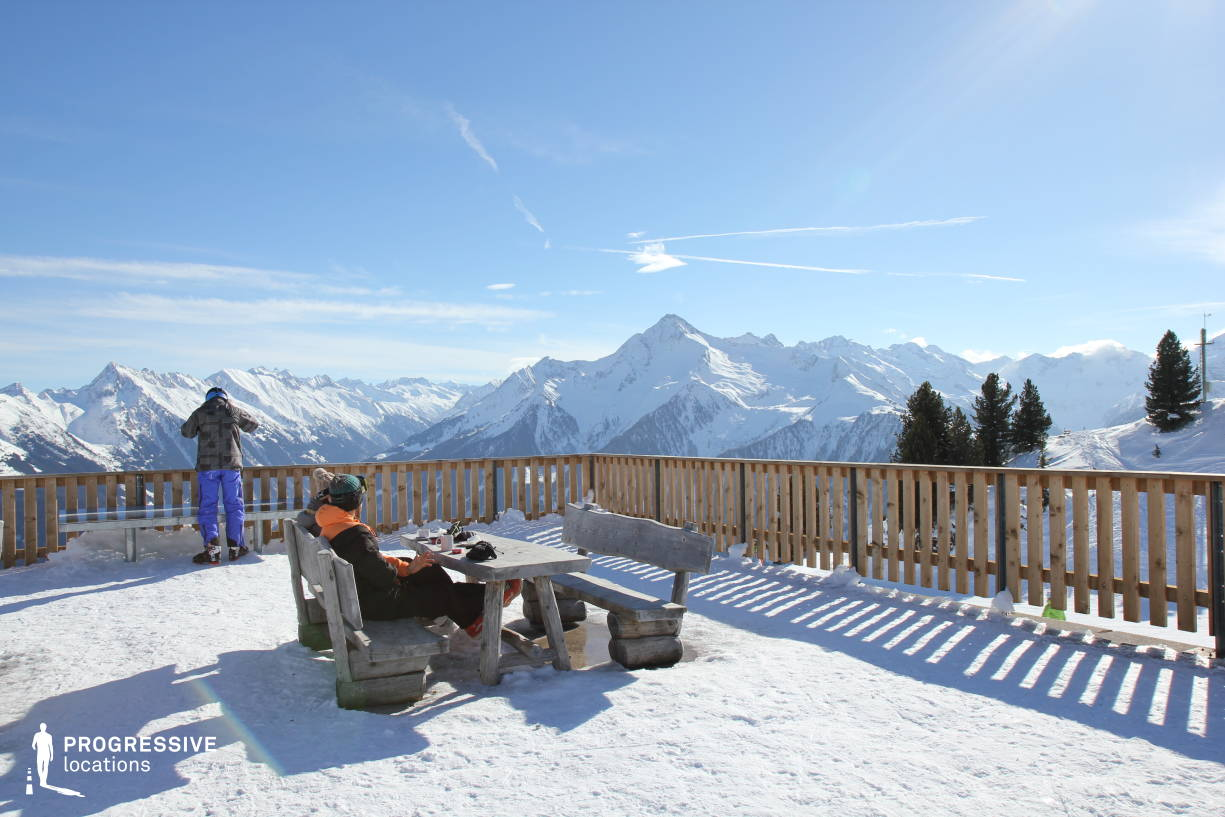 Locations in Austria: Huette Terrace %26 Mountain Panorama, Penken