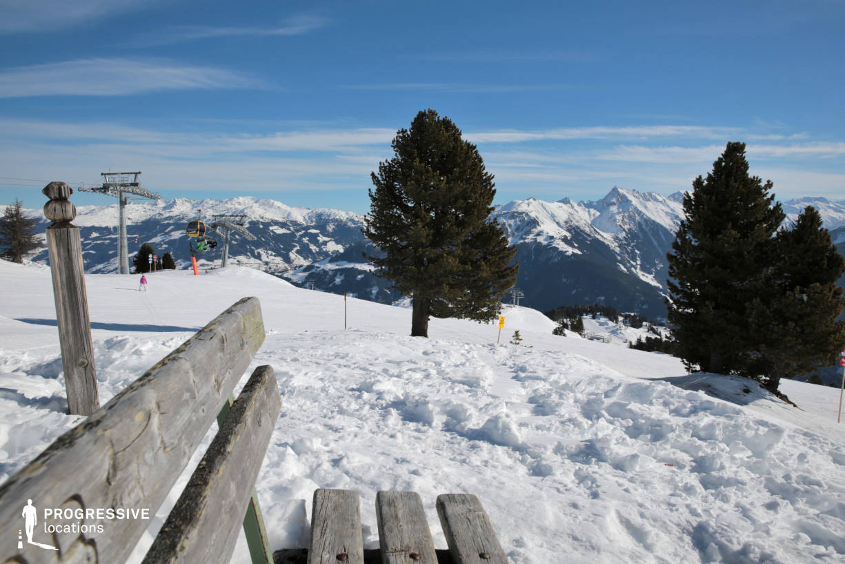 Locations in Austria: Panorama %26 Bench, Penken