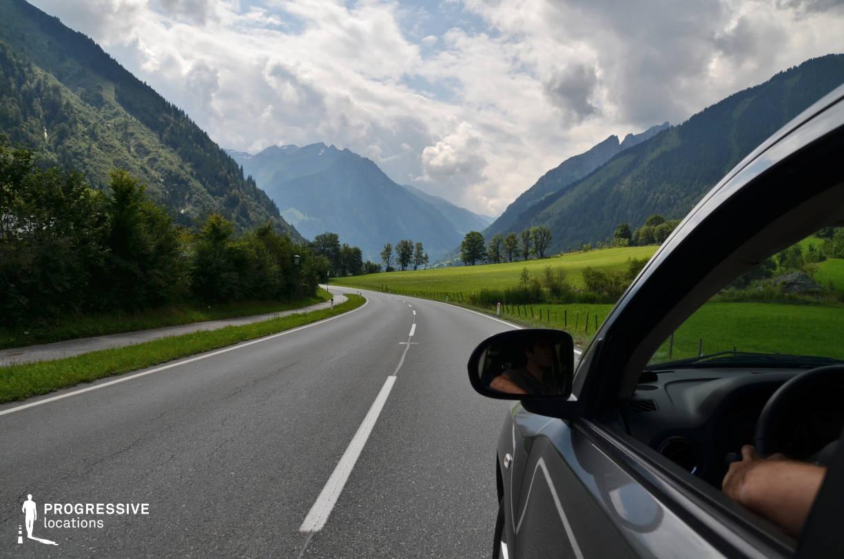 Locations in Austria: Curvy Road, Gosau