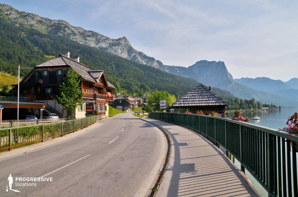 Locations in Austria: Lakeside Road, Grundlsee