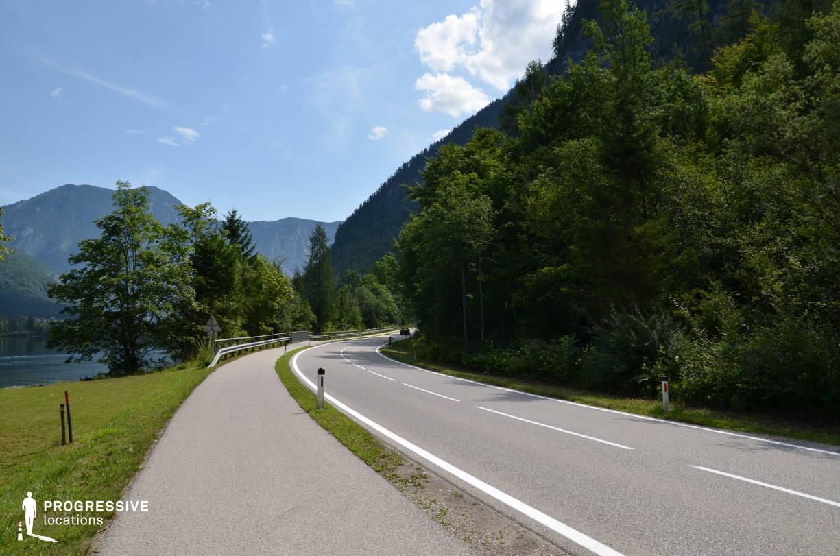 Locations in Austria: Lakeside Road, Hallstatt