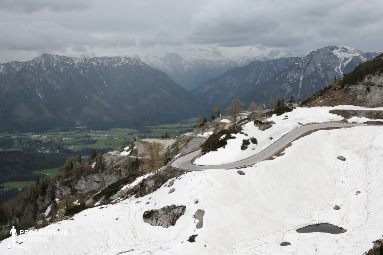 Locations in Austria: Snowy Serpentine Road, Loser