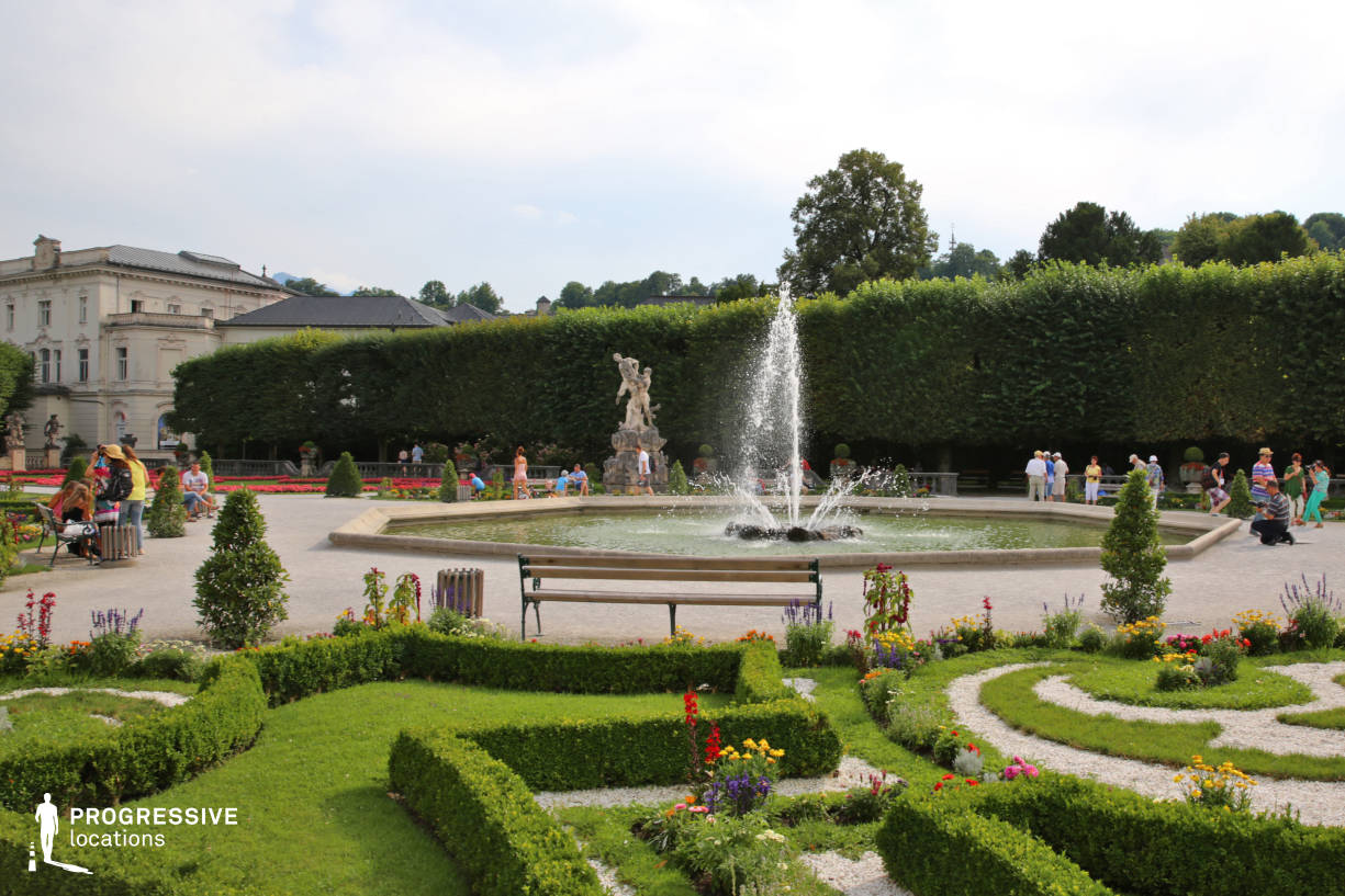 Locations in Salzburg: French Garden %26 Fountain, Mirabell Palace
