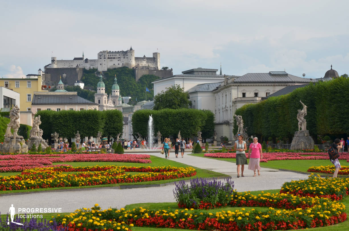 Locations in Salzburg: Garden %26 Fortress, Mirabell Palace