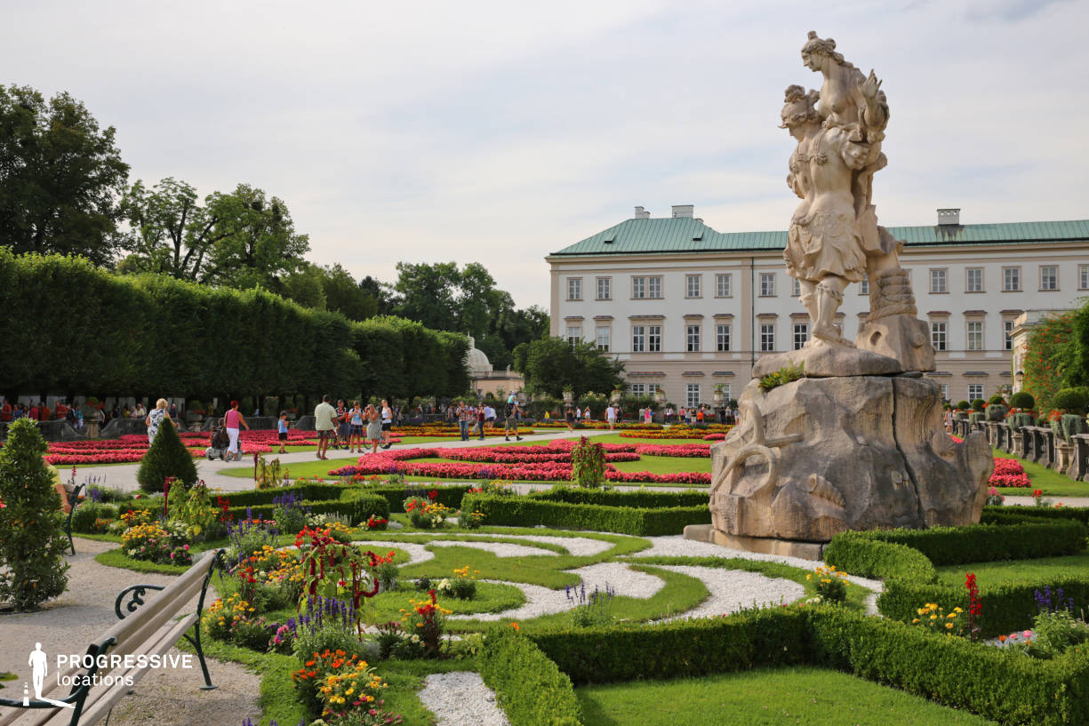 Locations in Salzburg: Garden %26 Statue, Mirabell Palace