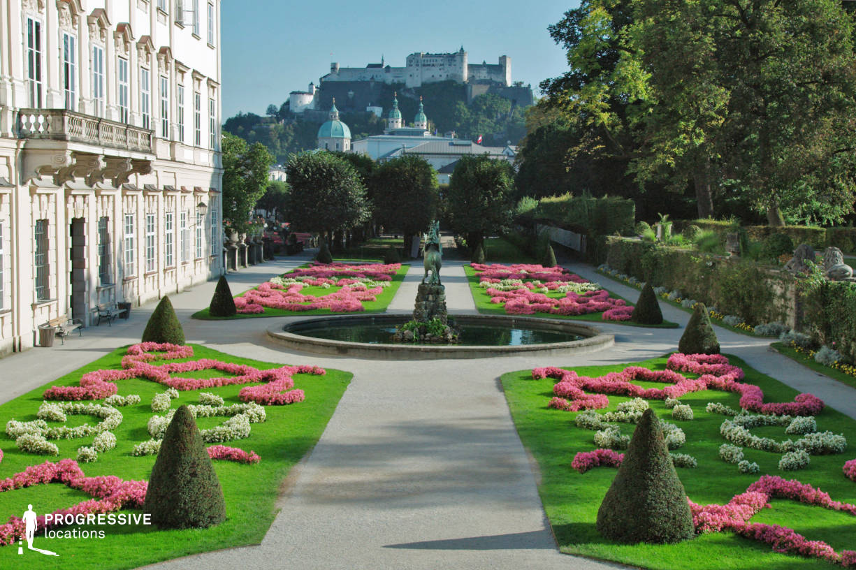 Locations in Salzburg: French Garden, Mirabell Palace