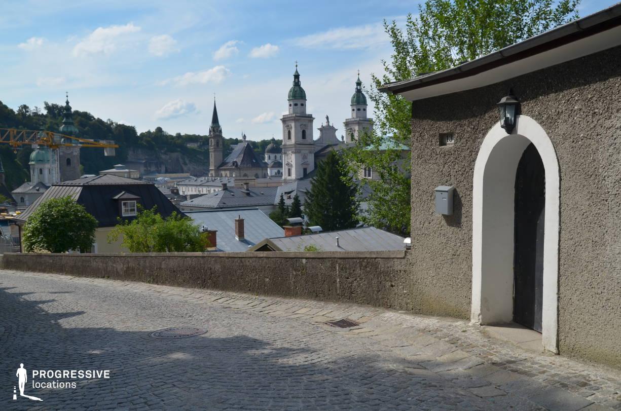 Locations in Salzburg: Cobblestone Hillside Street